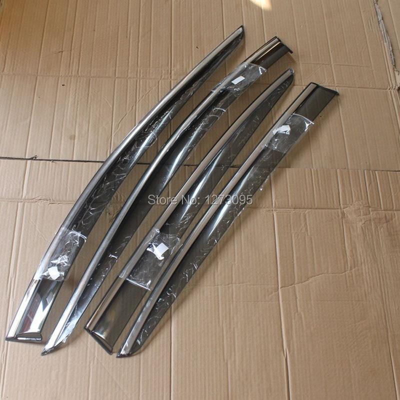 4pcs/set Smoke Sun Rain Visor Vent Window Deflector Shield Guard Shade For Lexus LS LS460 2007-2011