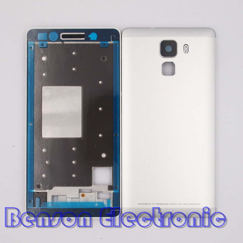 imágenes para Baansam nueva holder lcd marco frontal de la batería de la contraportada para huawei honor 7 case vivienda con 3 m adhesivo + volumen de energía botones