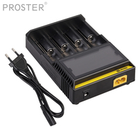 Proster 100 240v AC 50/60hz Nitecore D4 Battery charger For 26650 18650 14500 16340 AA AAA NiMh NiCd