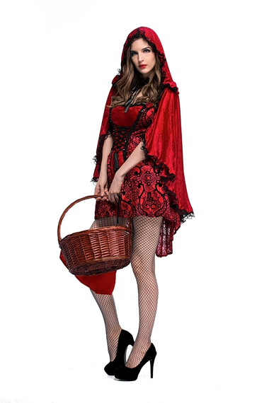 Hot Sexy Dress Halloween Party Costume High Quliaty Adult Little Red Riding Hood -5403