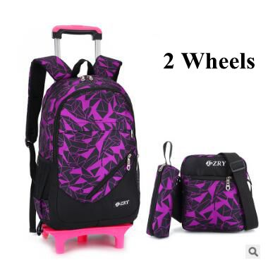 Kid Rolling School Backpack Children Wheeled For Boys Bag Set Trolley On Wheels In Bags From Luggage