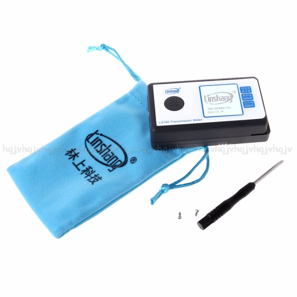 LS160 Portable Solar Film Transmission Meter Window Tint VLT UV IR Rejection Solar Film Meter JUN16 dropship ls160 solar film tester portable solar film transmission meter measure uv visible and infrared transmission values