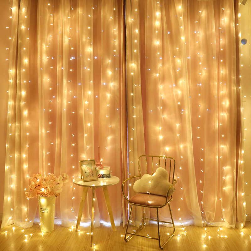 2/3/6 м Шторы светодиодный свет шнура сказочная Сосулька Светодиодный Рождественский венок для свадьбы праздника окна патио на открытом воздухе лампочное украшение гирлянда