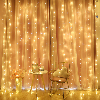 2/3/6M Curtain LED String Light Fairy Icicle LED Christmas Garland Wedding Party Patio Window Outdoor String Light Decoration 1