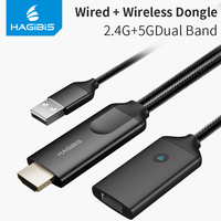 Hagibis HDMI Dongle TV Stick 1080P HD Screen Mirroring For iPhone 6 7 8 X iPad MacBook 2.4G+5G Wifi 4K Display DLNA For Android