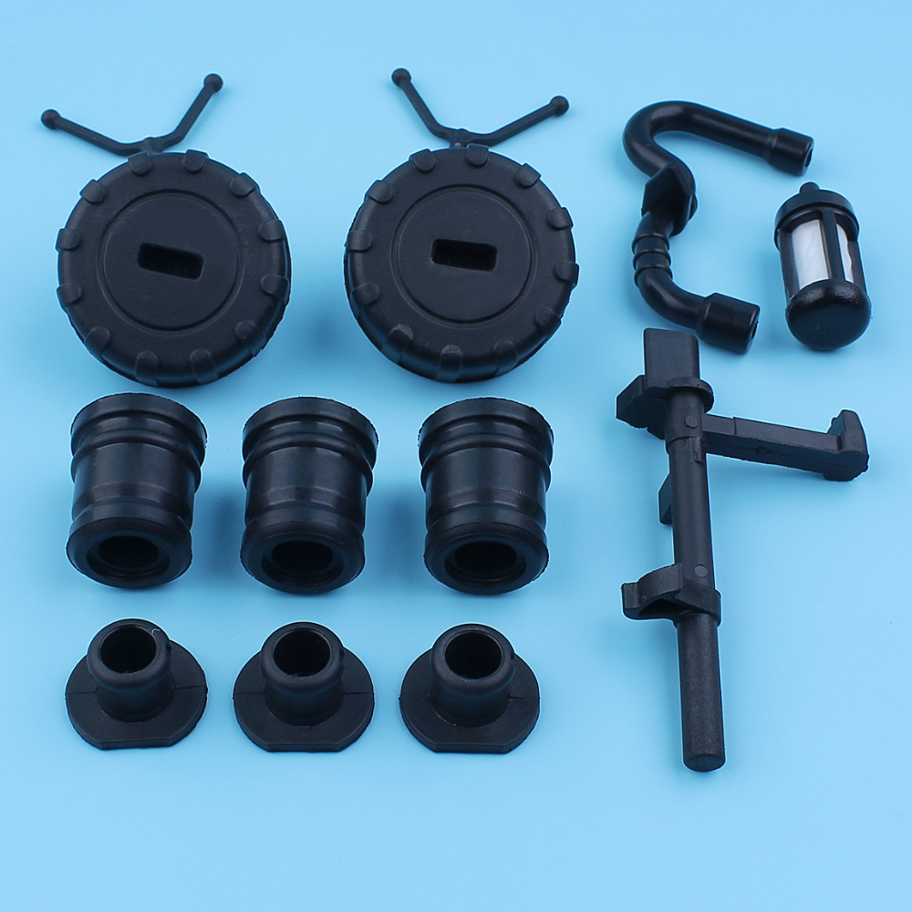 Gas Caps AV Annular Buffer Mount Plug Set Shaft Fuel Filter Tube Kit For Stihl 018 MS180 017 MS180 Chainsaw #1123 791 2800