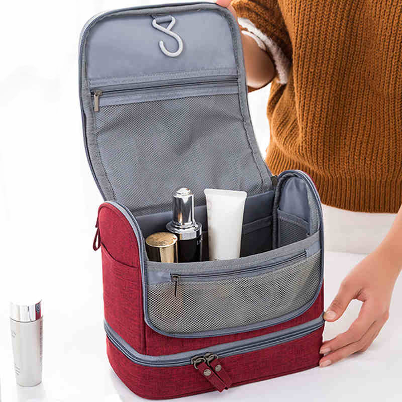 Multifunction Hanging Cosmetic Storage Bag Organizer Women Men Double Layer Beauty Makeup Pouch Case Accessories Supplies Stuff|Storage Bags| |  - title=