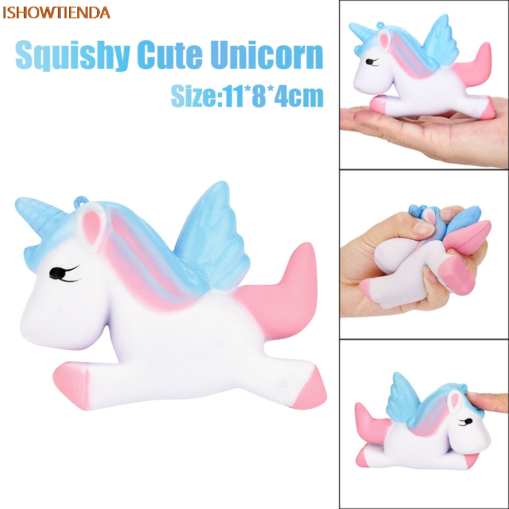 Kawaii Unicorn Squishy Slow Rising Cartoon Doll Cream Scented Decompression PU Galaxy Cute Gift Toys Stress Relief Reliever