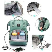 Mutterschaft Windel Tasche Mit Usb schnittstelle Große Kapazität Wasserdichte Windel Tasche Kits Rucksack Mutterschaft Pflege Handtasche