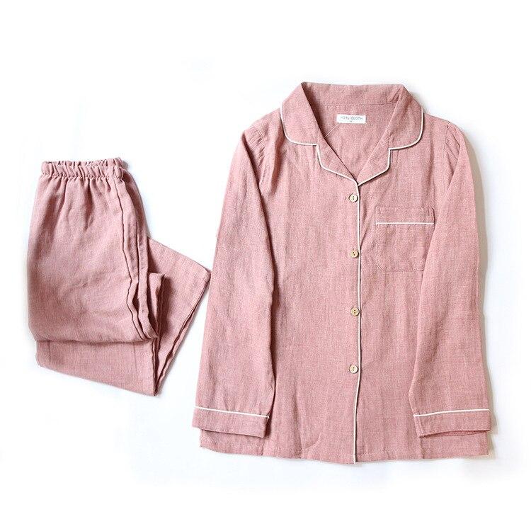 New Mens and Womens Pajamas Sets 100% Cotton Long Sleeve Sleepwear Plus Size Women Pyjama Spring Coloured Spun Nightwear Suit ...
