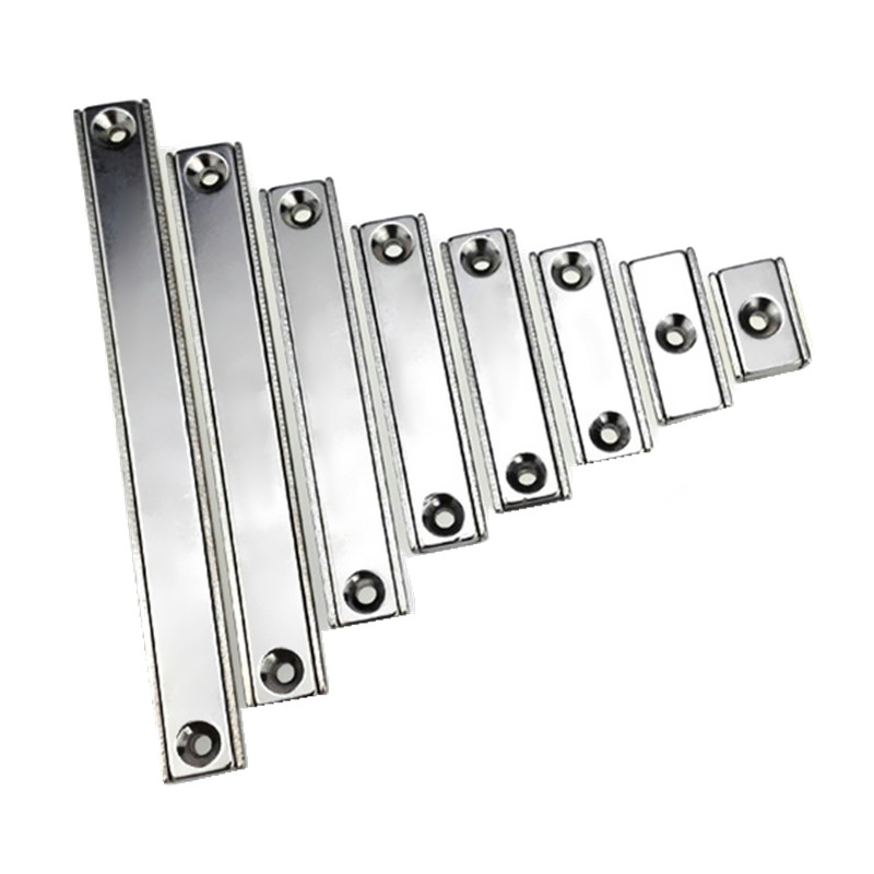 6pcs Tool Holder 40-120 mm Rectangle Block Pot Magnet with M3 Countersunk Screw Hole Clamp Neodymium Strong Holding Magnet 4pcs d48mm strong attracting force neodymium magnet pot with a countersunk hole working fixture antenna camera magnetic bases
