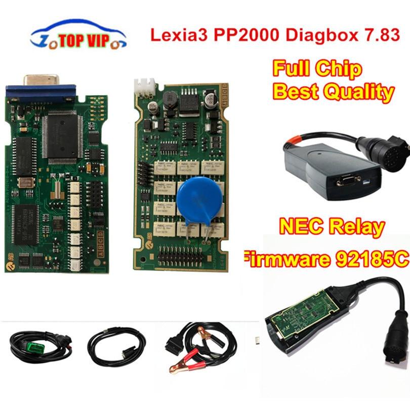Professionnel Scanner Lexia3 PP2000 Plein Puce Meilleure Qualité Diagbox V7.83 PSA XS Evolution LEXIA-3 FW 921815C Lexia 3 NEC Relais