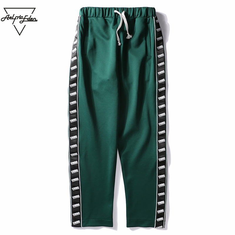 Aelfric Eden Side Letter Couple Sweatpants Preppy Style Casual Pants Men Straight Fashion Track Sweat Pants Male Joggers As111