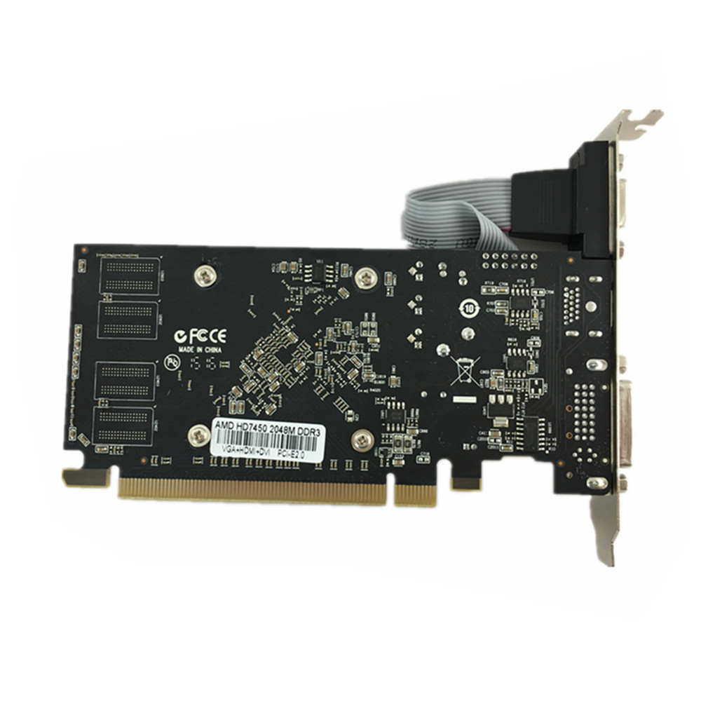 100% новая Оригинальная графическая карта pci express HD7450 2 ГБ DDR3 64 бит LP пластина видеокарты ПК для ATI radeon Бесплатная доставка-1