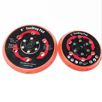 sanding pad backing plate back holder for DAS-21E partial rupes dual action polisher da polisher 5 6 125mm 150mm 5 6 inch 6 inch 150mm 17 hole dust free m8 thread back up sanding pad for 6 hook