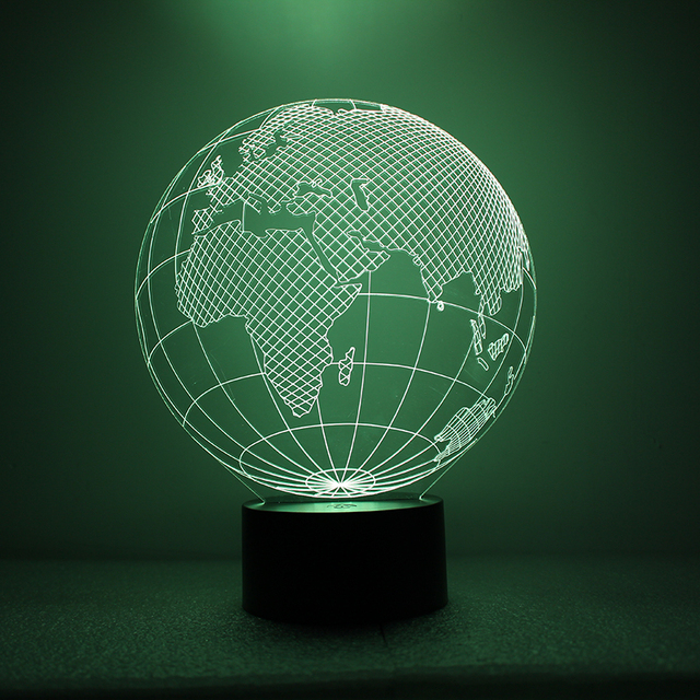 Earth shape lamp 3d led world map night light usb visual creative earth shape lamp 3d led world map night light usb visual creative night light for kids gumiabroncs Choice Image
