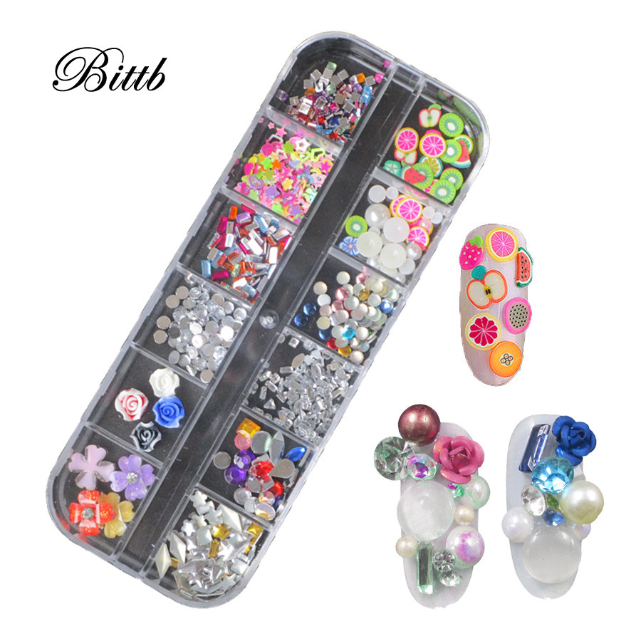 Detail Feedback Questions about Bittb Nail Art Decoration Acrylic  Rhinestones Glitter Sequins Diamonds Studs Fimo Fruit Slices Pearl DIY Accessories  Nails ... 71d1cfb0c0f6