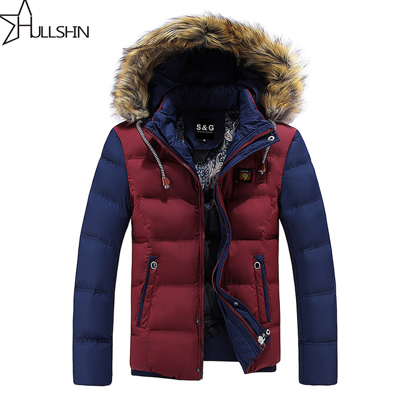 ФОТО New 2016 Winter Jacket Fur Collar Men's Down Jacket  fashion Coat Thickening Jacket Parka Men with hooded WQ8867