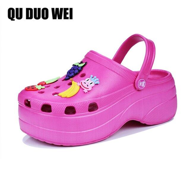 d07c138fd € 11.85 49% de réduction Bonbons couleurs femmes sandales sabots Mules Eva  2018 été tongs plage jardin chaussures mode pantoufles plein air ...