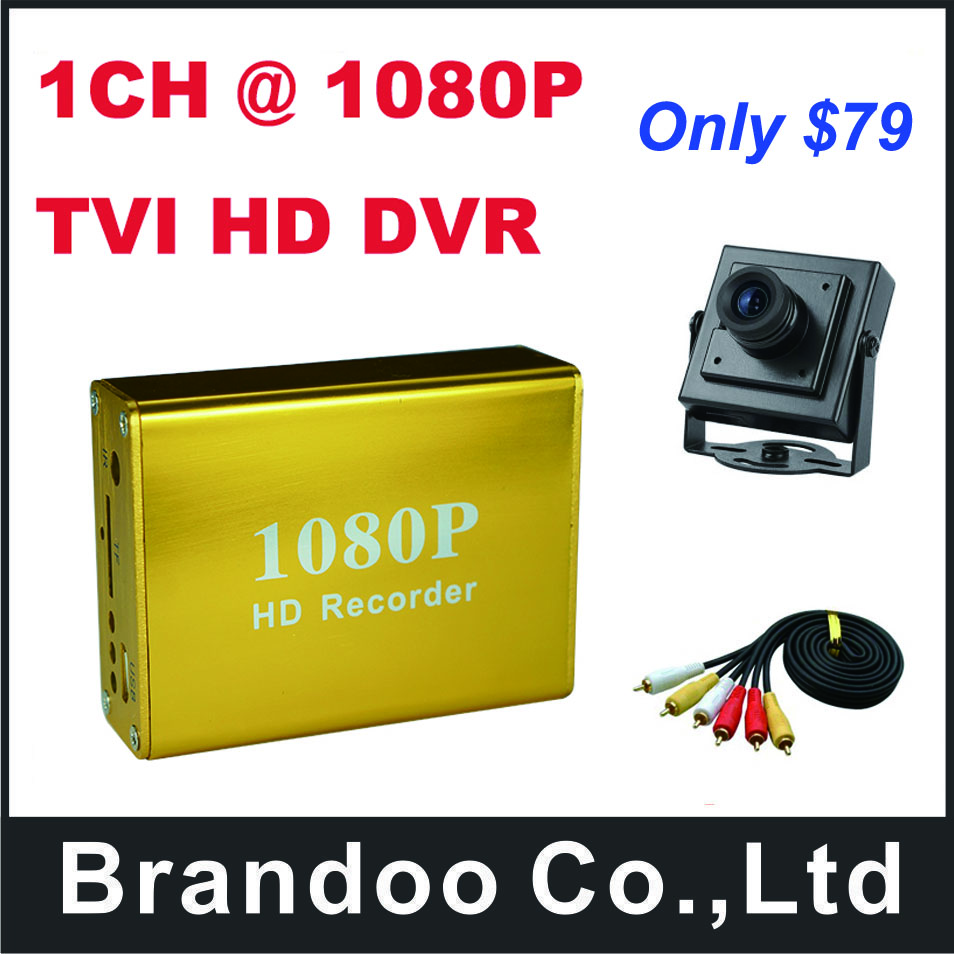 1CH 1080P TVI SD DVR,for car,taxi used,support 128GB sd card,include 1pcs TVI HD 1080P Camera