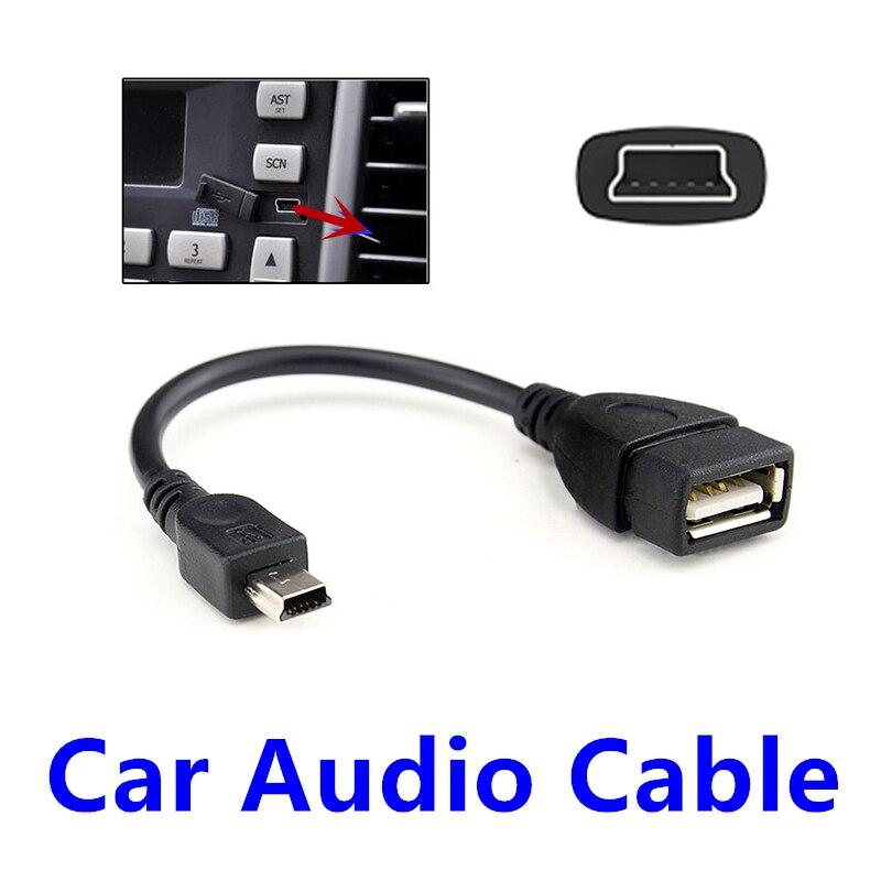 FFFAS Car Audio Cable Mini Port OTG Cable Adapter Auto USB Flash U Disk Music V3 Line For Autocar Automobile Parts Wholesale