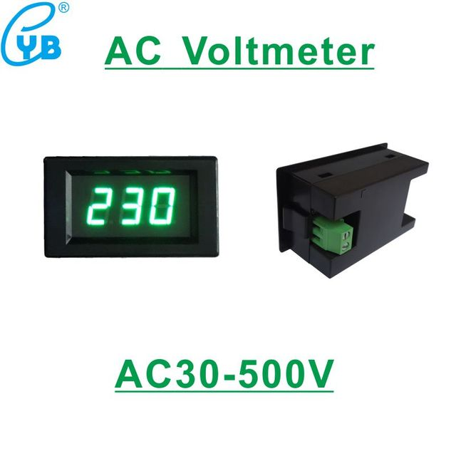 led digital voltmeter ac 30 500v ac 110v 120v 230v 240v 380v voltage