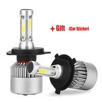 1 Pair H4 LED H7 H11 H1 H3 9005 HB3 9006 HB4 Led Car Headlight H8