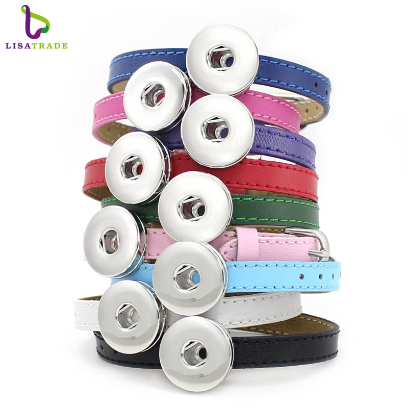10PCS 8MM Genuine Leather Snap Button DIY Wristband Bracelets Can Match With The Snap Buttons LSNB1310