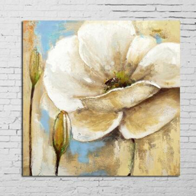 Large Home Decor Wall Art Pictures Modern Knife Abstract Flowers Oil ...