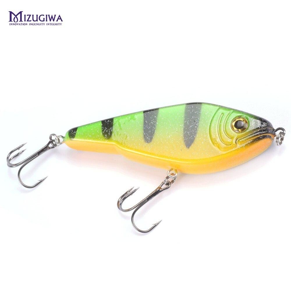 MIZUGIWA Pike Fishing Lure Jerkbait Musky Buster Jerk Big VIB Baits Mustad Hooks Slow Sinking Big Bass 120mm 50g Pesca Leurre