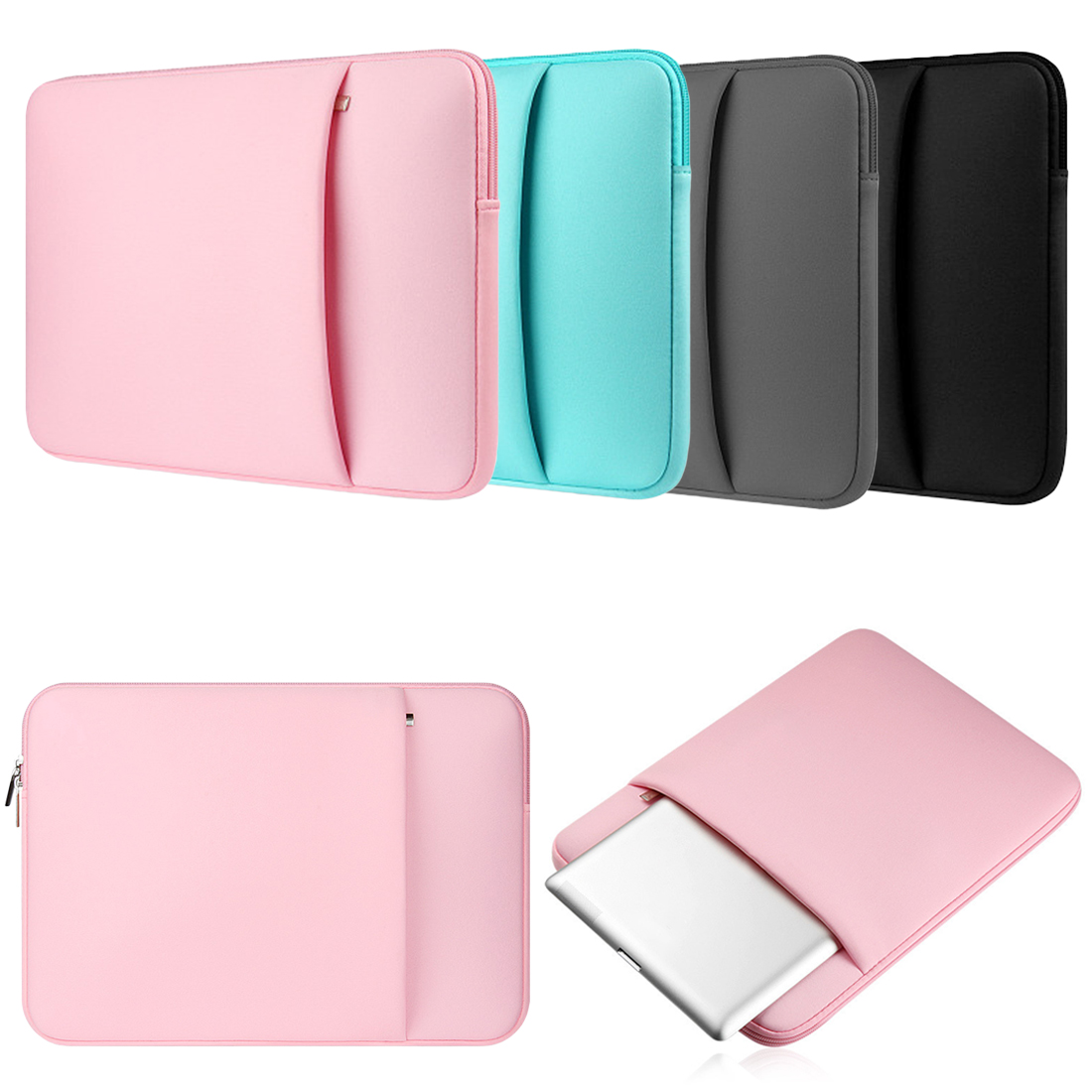 Laptop Sleeve Notebook Bag For Macbook Air 13 Pro 11 12 15 15.6 Case Laptop Bag 11 13 14 15 Inch Protective Case Liner Bags