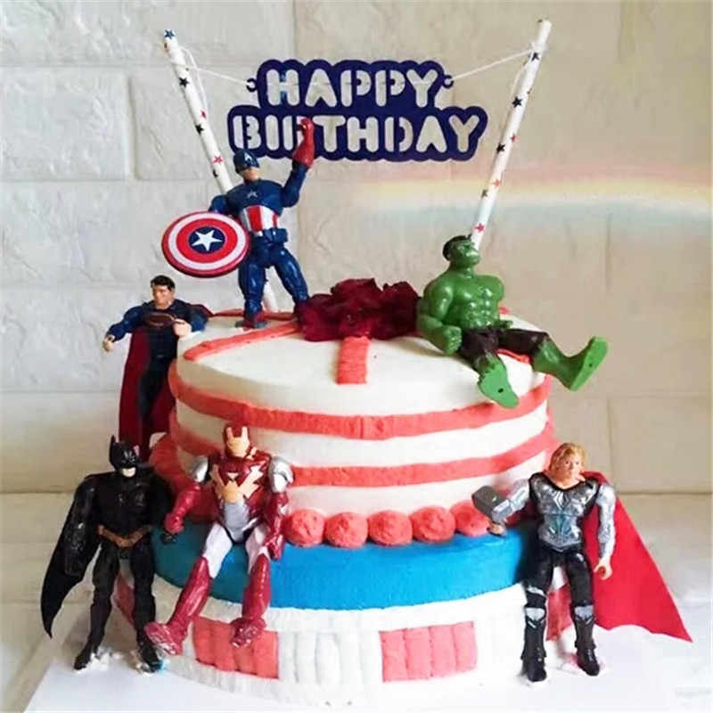 Pleasant Avengers Toys Topper Cake Decorating Super Hero Party Favors China Personalised Birthday Cards Rectzonderlifede