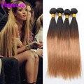 T1B/27 Ombre Brazilian Hair Weave Bundles 4 Bundles Brazilian Virgin Hair Straight Ombre Hair Extensions Cheap Human Hair Weave