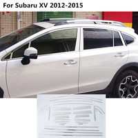 High Quality Car Styling Stainless Steel Glass Window Garnish Pillar Middle Column Trim Hoods For Subaru