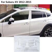 High Quality Car Styling Stainless Steel Glass Window Garnish Pillar Middle Column Trim Hoods For Subaru