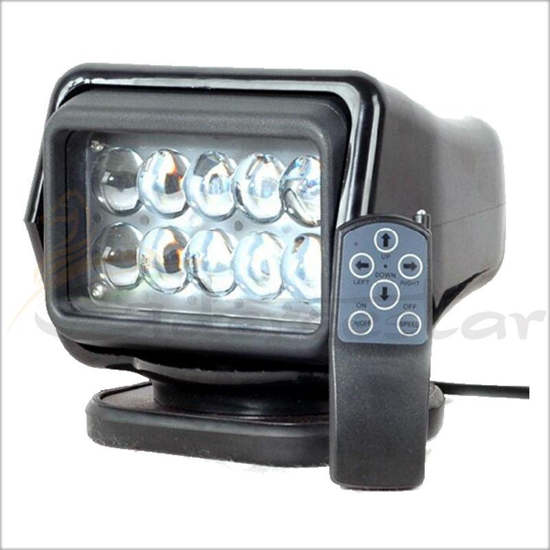 50W светодиодный вращающийся поиск свет дистанционного управления черный белый 50W 12-24V работая свет для лодка offroad внедорожник автомобиля Кемпинг сад