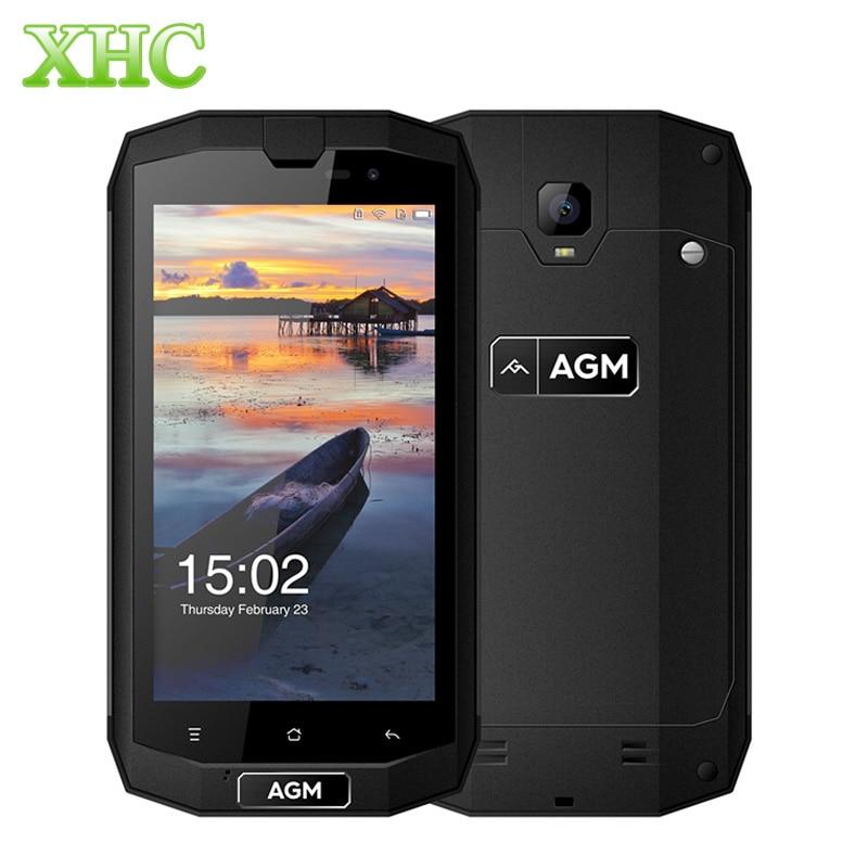 AGM A1Q IP68 4G Mobile Phone 4050mAh Waterproof Android 7.0 MSM8916 Quad Core 5.0'' 4GB RAM 64GB ROM Dual SIM OTG NFC Smartphone