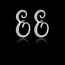 2019 fashion new creative English alphabet earrings simple personality luxury trend European and American style