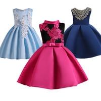 Children S Girl Dresses 2 To 12 Year Baby Girls Birthday Dress Red Wedding Dresses For