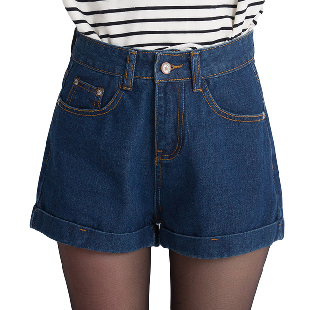 New Arrival Women Shorts Summer High Waist Denim Shorts Women Plus Size Loose short feminino casual Female Short Jeans