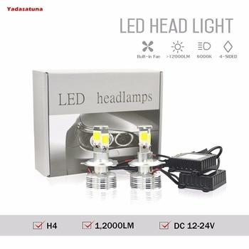 2x12V H4 Hi/Lo LED Faro Bombillas Alquiler LED 120W 12000Lm LED lampara...