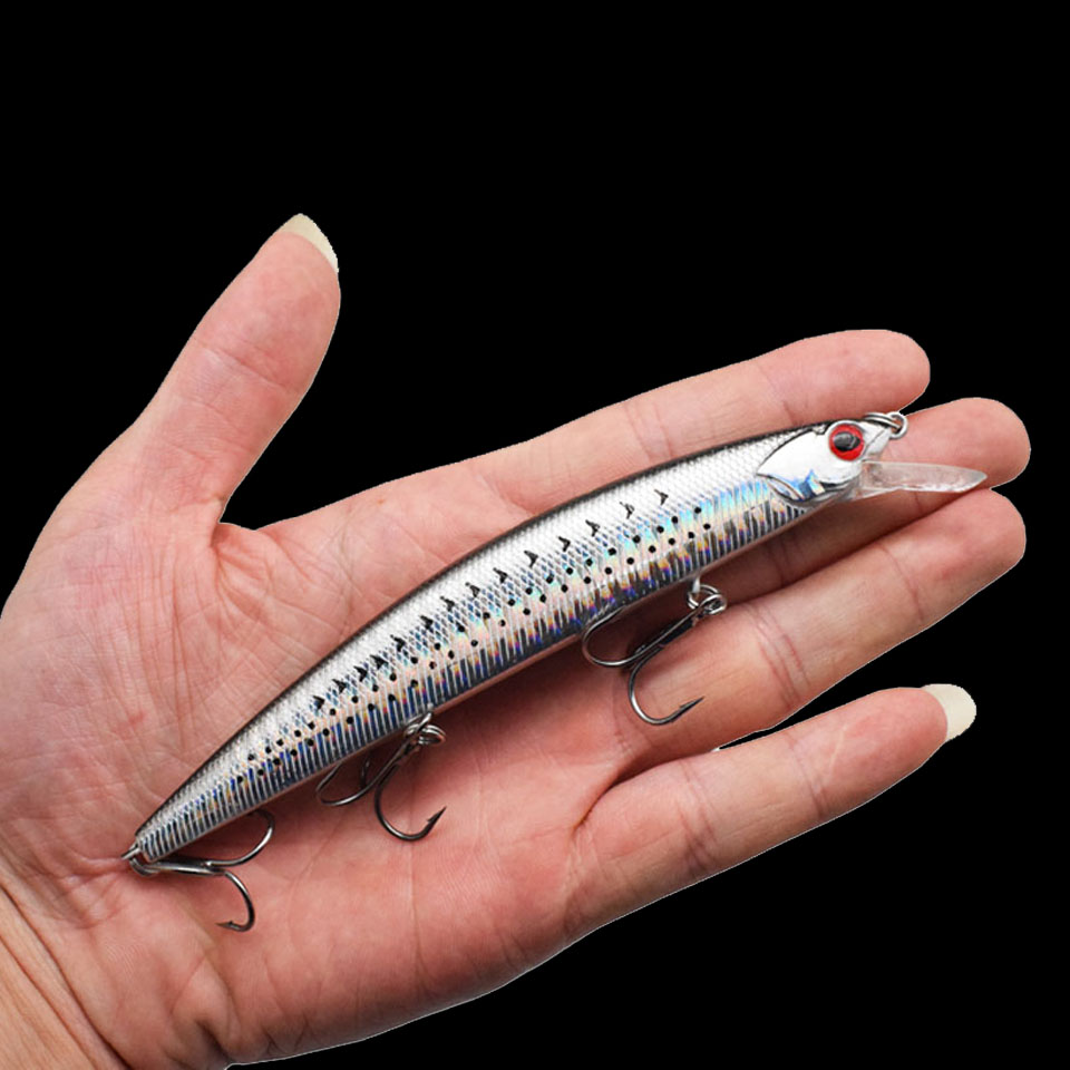 WALK FISH 1PCS Fishing Wobblers Suspending 0.5-2m Big Minnow Fishing Lure 130mm 20g Minnow Hard Artificial Bait Pesca 1 pcs deli big fish