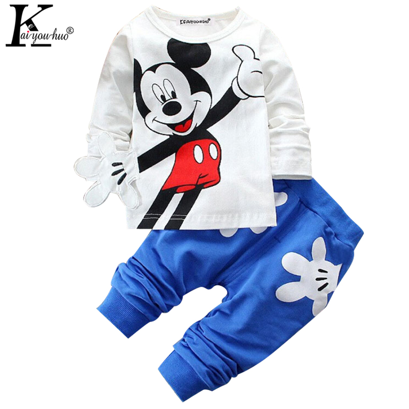 2016 Boys&Girls Cotton Spring sport suit Kids Clothing set Kids fashion clothes baby boys&Girls cartoon set