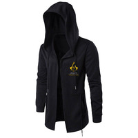 Embrodiery Hoodie Men Game PUBG Witcher Assassin's Creed Jacket Black Resident Evil Ow Hoody Mens Sweatshirts Outerwear Cosplay
