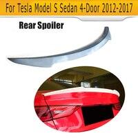 FRP לא צבוע פריימר רכב אחורי trunk עצה ספוילר כנף עבור טסלה דגם S 60 70 75 85 90 D P85D p90D P100D 2012-2017