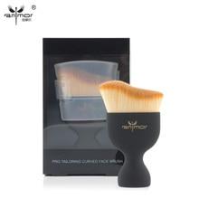 New Contour Foundation Brush Cream Makeup Brushes Loose Powder Brush Multifunctional Make Up Brushes with Transparent Lid