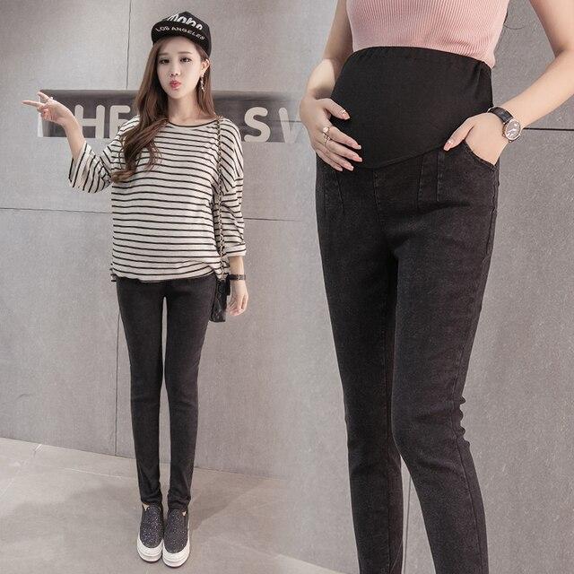 Новая сцена съемки беременных женщин брюки хан издание мода досуга расслабленным летние высокой талией джинсы промывной воды