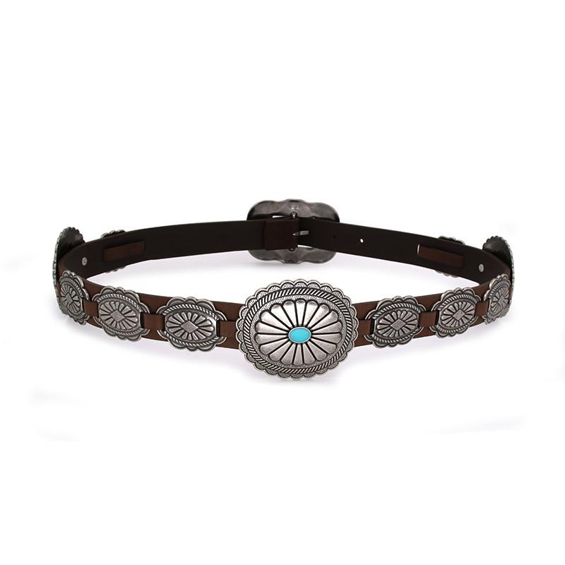 Fashion PU Leather Belt Wild Cowboy Belt Western Buckle Style Hip Hop Rock Jeans Strap Metal Big Buckle Belt BL516