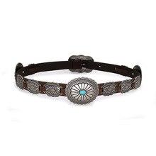 Fashion PU leather belt Wild cowboy belt Western Buckle styl