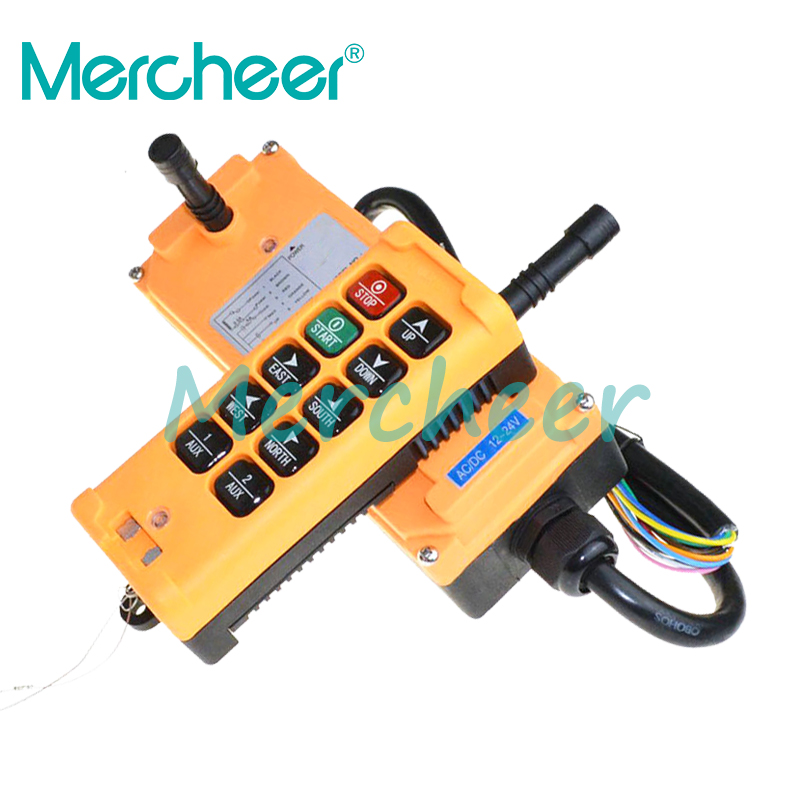12 24VDC 10 Channels One Speed industrial wireless Truck Hoist Crane Winch Radio Remote Control System